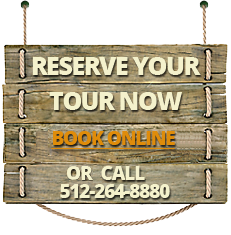 Reserve your tour now. Call 512-264-8880 or click here to book online.